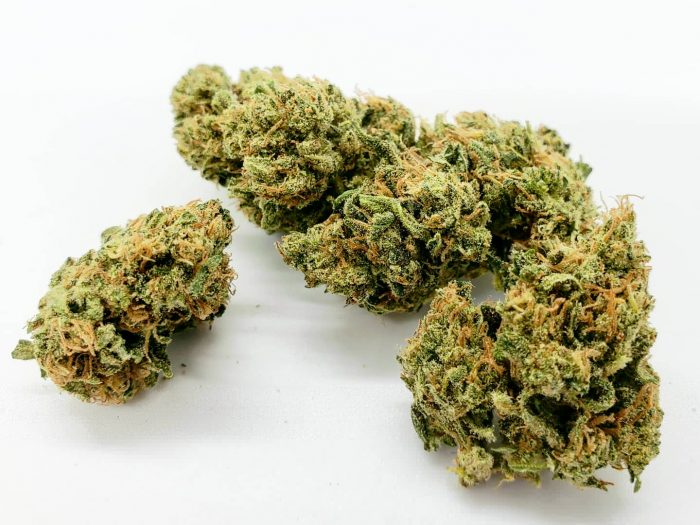 Suver Haze cbd buds with white background